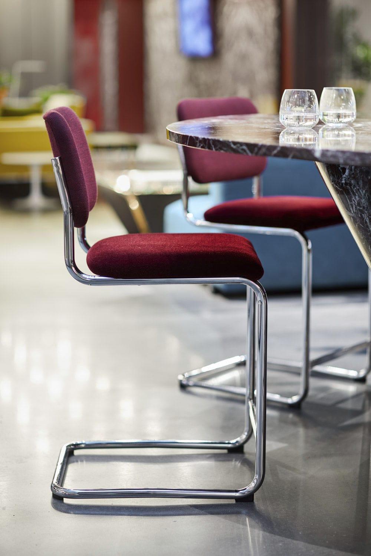 Sedia alta moderna - CESCA™ - Knoll - imbottita ...