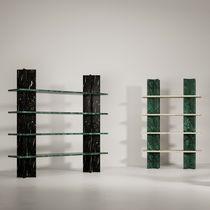 Scaffale moderno / in frassino / in marmo / verde