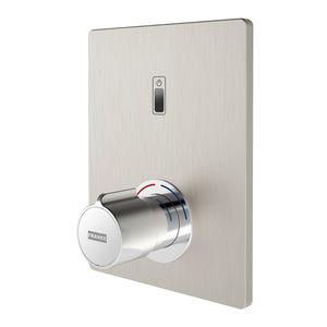 miscelatore da doccia / da parete / in ottone cromato / in acciaio inossidabile