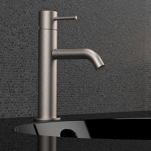 miscelatore per lavabo / per lavamani / in acciaio inox / da bagno