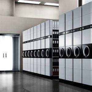 scaffalatura mobile per stoccaggio / per ufficio / per archivio / manuale