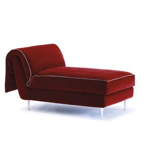 chaise longue moderna / in tessuto