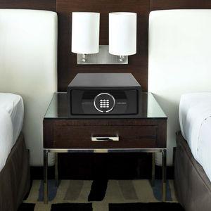 cassaforte elettronica / da appoggio / per camera d'hotel