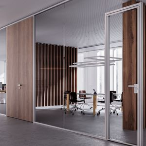 parete smontabile / fissa / in legno / in laminato