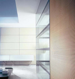 parete smontabile / fissa / in legno / in vetro