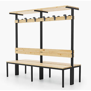 panca per spogliatoio / moderna / in legno / con schienale