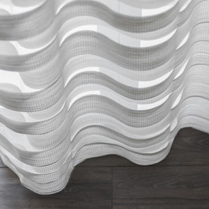 tessuto per tende / a righe / in poliestere / in lana