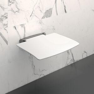 sedile per doccia amovibile / da parete / polimerico / in alluminio