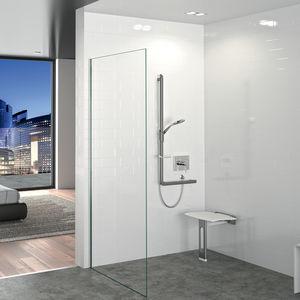 sedile per doccia amovibile / da parete / polimerico / contract
