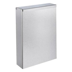 pattumiera igienica / da parete / in acciaio inossidabile / contract