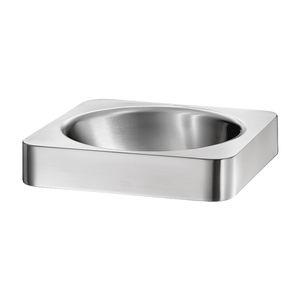 lavabo da semincasso / quadrato / in acciaio inossidabile / moderno