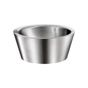 lavabo da appoggio / tondo / in acciaio inossidabile / moderno