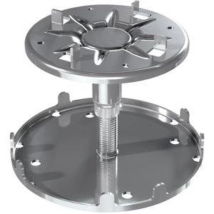 supporto per pavimento sopraelevato in acciaio galvanizzato