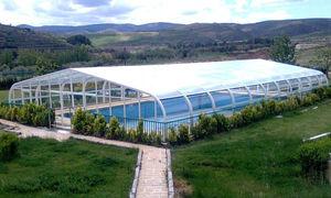 copertura per piscina alta