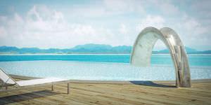 scivolo per piscina pubblica