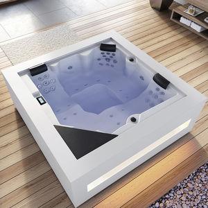 spa fuoriterra / quadrata / 5 posti / da interno