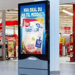 cartello pubblicitario da interno