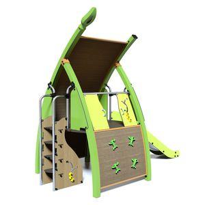 struttura ludica per parco giochi / in metallo / in HDPE / in HPL
