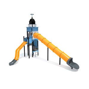 struttura ludica per parco giochi / in acciaio / in polietilene