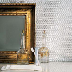 mosaico da interno / da parete / in vetro / quadrato