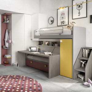 armadio ad angolo / moderno / in alluminio anodizzato / in melamminico