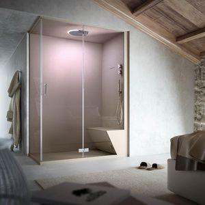 box doccia a vapore / multifunzione / in vetro / d'angolo