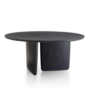 tavolo moderno / in acciaio inossidabile / con supporto in acciaio inossidabile / tondo