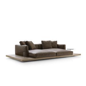 divano moderno / in tessuto / in pelle / di Piero Lissoni