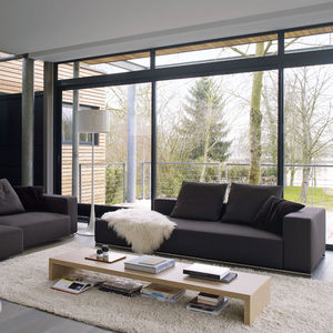 divano modulare / moderno / in pelle / in tessuto