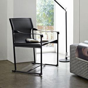 sedia moderna / pieghevole / con braccioli / a slitta