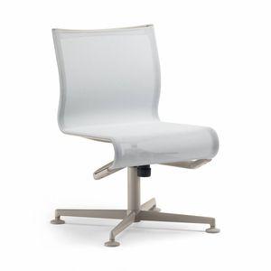 sedia da conferenza imbottito / girevole / reclinabile / con base a stella