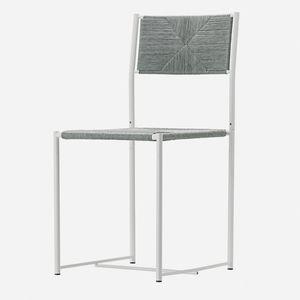 sedia moderna / con braccioli / impilabile / a slitta