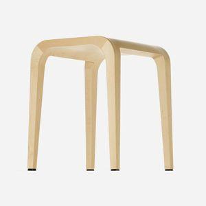 sgabello moderno / in quercia / in legno massiccio / in noce
