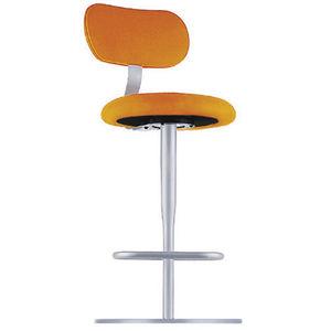 sedia alta moderna / con poggiapiedi / con base centrale / in tessuto