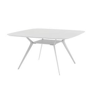 tavolo moderno / in quercia / impiallacciato in legno / in MDF laccato