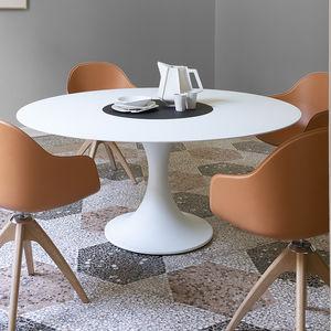 tavolo moderno / in MDF laccato / in alluminio / in marmo