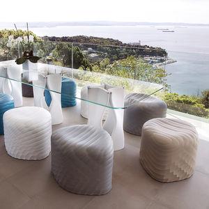pouf moderno / in poliuretano / impermeabile / da esterno