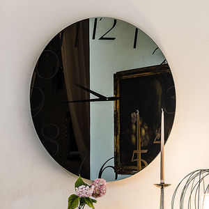 orologi moderni / analogici / a muro / in vetro