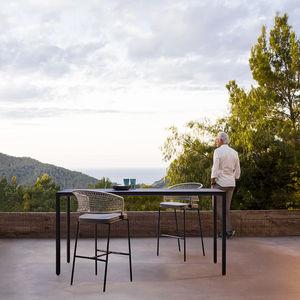 tavolo alto moderno / in alluminio / rettangolare / da esterno