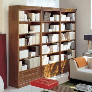 libreria modulare / classica / in legno massiccio / vetrata