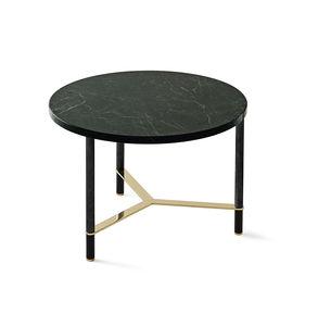 tavolino basso moderno / in legno / in marmo / con supporto in alluminio anodizzato