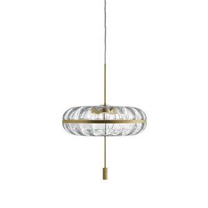 lampada a sospensione / design originale / in ottone / in vetro soffiato
