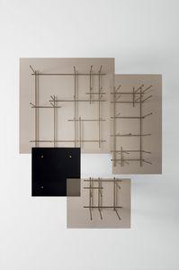 tavolino basso design originale / in vetro / in vetro temprato / in bronzo