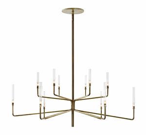 lampadario moderno / in cristallo / in Pyrex® / in ottone