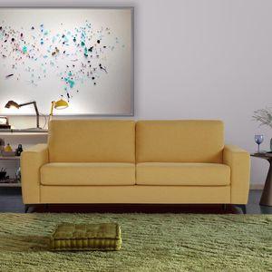 divano letto / moderno / in tessuto / 2 posti