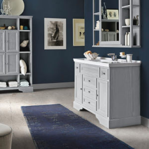 tappeto moderno / a tinta unita / in lana / in cotone