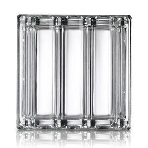 mattone di vetro quadrato / metallizzato / satinato / 3D
