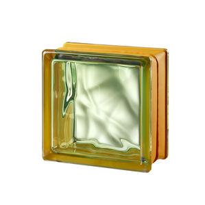mattone di vetro quadrato / per stanza da bagno / per muro interno / colorato