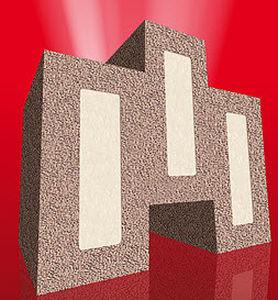 blocco di muratura a base di silice espansa / isolante / di sicurezza antincendio