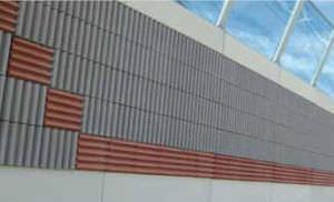 blocco di calcestruzzo di legno / per muro